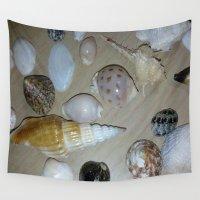 seashell Wall Tapestries featuring seashell,sea by ira gora