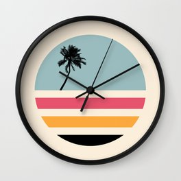 Retro Sunset 01 Wall Clock