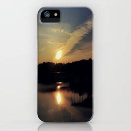 Sunset, Lake lanier iPhone Case