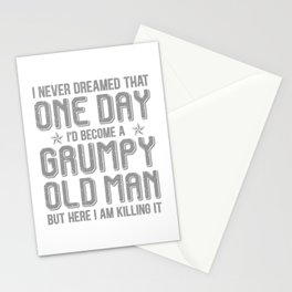 Grumpy Old Man Killing It Stationery Cards