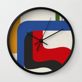 TAKE ME OUT (abstract geometric) Wall Clock