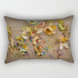 color trail Rectangular Pillow