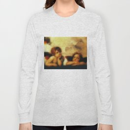 "Raffaello Sanzio da Urbino ""Sistine Madonna"", 1513-1514 - angels (1) Long Sleeve T-shirt"