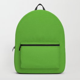 Bright Green Snake Solid Color Backpack