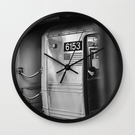 Metro in New York City, USA | City escape | Black and white Travel photography art print Wall Clock