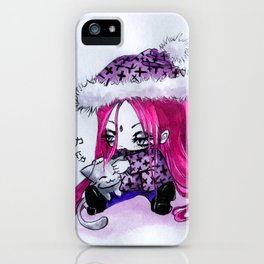 Kyouka and cat iPhone Case