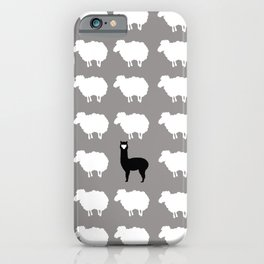 Don't be a sheep, Be a Llama iPhone Case