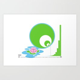 Exponential Growth Lily Pond - version 2 Art Print