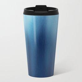 Human Figures In Blue Travel Mug