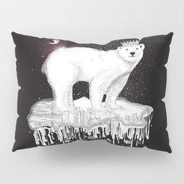 Polar bear with crown on ice floe Pillow Sham