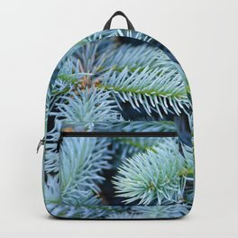 Fir branches background Backpack