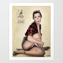 CALENDAR GIRL Art Print