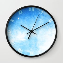 Moon in the Clouds Wall Clock