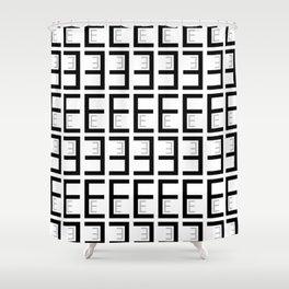 Alphabet - E Shower Curtain