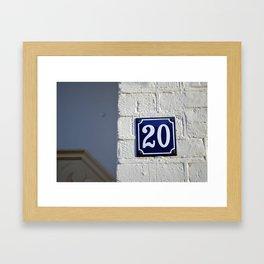 Twenty Framed Art Print