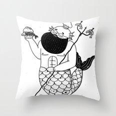 Chef Merman Throw Pillow