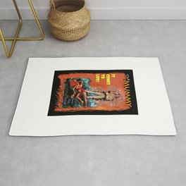Woman in the red dress meets The Mummy Rug