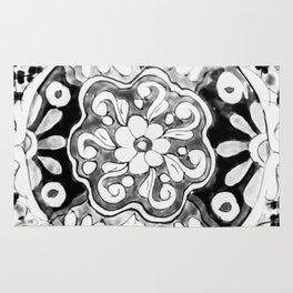 Black and White Talavera Eleven Rug