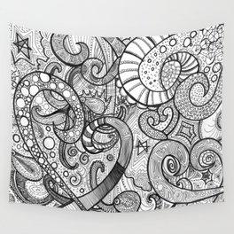 octupi heart Wall Tapestry