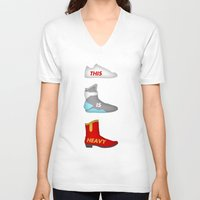 marty mcfly V-neck T-shirts featuring Marty by Acid Brand
