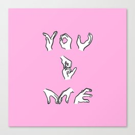 You and Me - pink Canvas Print