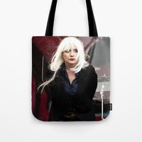 blondie Tote Bags featuring Blondie by Euan Anderson