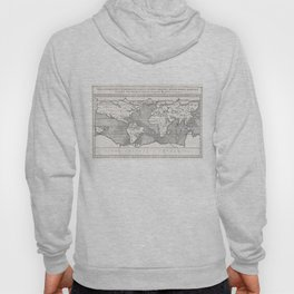 Vintage Map of The World (1665) Hoody
