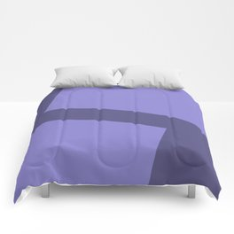 Two ways - blue (blue series) Comforters