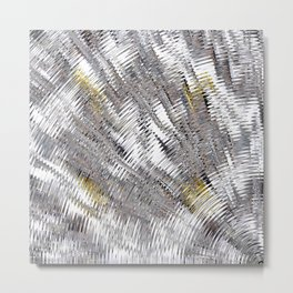 Silver Metallic Urban Industrial Metal Print
