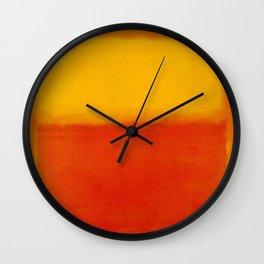 1956 Orange and Yellow by Mark Rothko HD Wall Clock