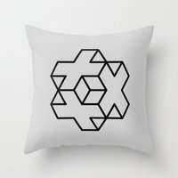 positive Throw Pillows featuring Positive by Dizzy Moments