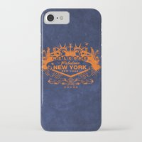 sin city iPhone & iPod Cases featuring Sin City (Orange/Blue) by Gusto NYC