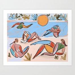 Beach days Art Print