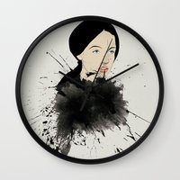 pop art Wall Clocks featuring Pop by John Murphy