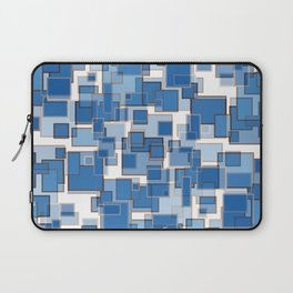 Blue Abstract Patches Laptop Sleeve