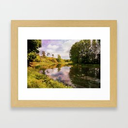 River Teviot at Kelso. Framed Art Print