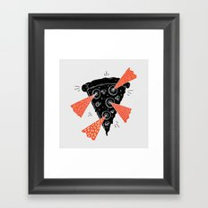 Lazer Pizza Framed Art Print