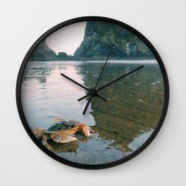 Mr.Crab at Haystack Rock #1 Wall Clock