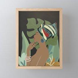 Woman with a Tuban Framed Mini Art Print