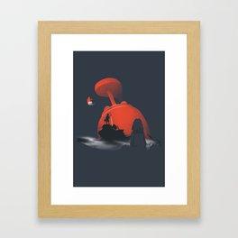 Furi Kuri - Nothing amazing happens here Framed Art Print