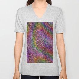 Color Displacement Unisex V-Neck