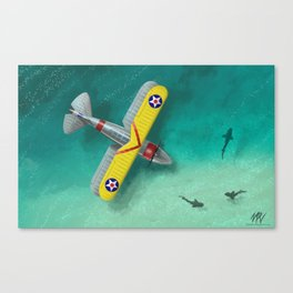 Duck in Trouble Canvas Print