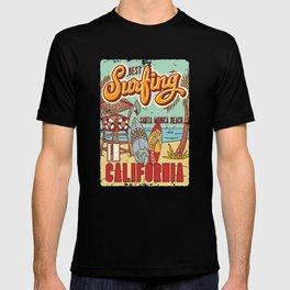 The Best Surfing – Santa Monica Beach T-shirt