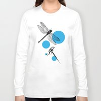 dragonfly Long Sleeve T-shirts featuring Dragonfly by Ben Stevens