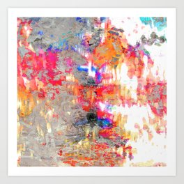 Look On The Bright Side Multcolored Abstract Art Print