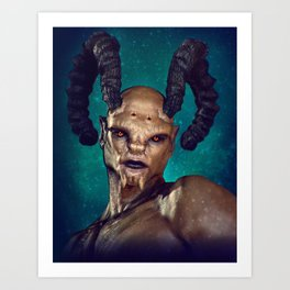 Male Demon Art Print