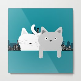 City Cats Metal Print