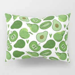 Green fruits and vegetables Pillow Sham