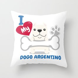 DOGO ARGENTINO Cute Dog Gift Idea Funny Dogs Throw Pillow