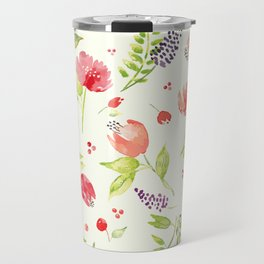 Watercolor Rose Garden Travel Mug